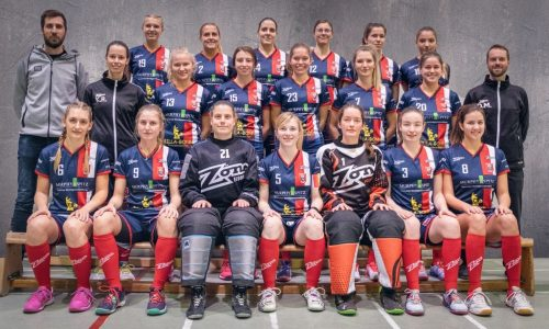 Mannschaftsfoto der SSF Dragons Bonn Floorball Bundesliga Damen
